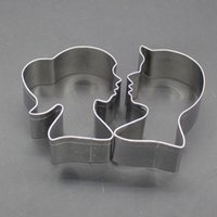Wholesale 3d molds for cakes for sale - Group buy 2PC D Cookie Cutter Lovers Shape cake decorating tool Baking Molds for Wedding Pastry Fondant Cake Biscuit Mold Free