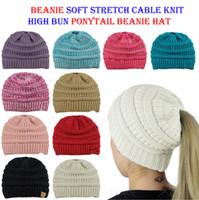 Wholesale oversized beanie cap resale online - Knit Beanie Hat Oversized Baggy Cap Winter Skull Ski Cuff Slouchy Womens Warm colors cny802