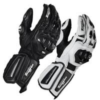 siyah parmak eldivenleri toptan satış-Toptan Furygan karbon fiber deri yarış off-road eldiven sürme eldiven / motosiklet tam parmak eldiven bisiklet eldiven siyah / beyaz