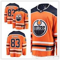 jersey naranja 83 al por mayor-personalizados 2019 de los hombres de los engrasadores 83 Matt Benning Fanatics naranja de la marca Breakaway jugador Edmonton mujeres niños Jersey