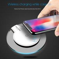 sıcak satış vericisi toptan satış-Baz Verici Round Şarj iphone X MobilePhone Qi Hızlı Şarj Kablosuz için Sıcak Satış Ultra İnce Kristal K9 Kablosuz Şarj