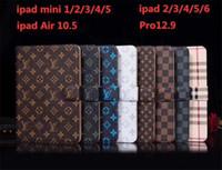 ipad mini için deri çantalar toptan satış-Klasik Monogram Deri Flip Case Apple iPad Için Pro 12.9