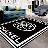 fabric großhandel-Rutschfeste Stoff Teppich Material 150 * 200 cm Heißer Marke Design Mode Matte Neue Wohnzimmer Boden Fußmatte Große Fläche Teppich
