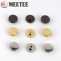 15 mm yuvarlak düğmeler toptan satış-Meetee 15mm Yuvarlak Perçin Çiviler Vida İçin Çanta Çanta Dekoratif Studs Düğme Metal Toka DIY Çanta Donanım Aksesuarları