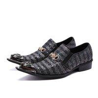 ingrosso scarpe scarpe da uomo-Scarpe da uomo in pelle stile britannico con striature a forma di fibbia con fibbia maschile