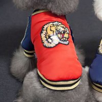 vip köpek giysileri toptan satış-Ilginç Kaplan Kafası Ceket Pet Giyim Köpek Giysileri Sonbahar ve Kış Giymek VIP Teddy Ceket Hukuk Mücadele Bulldog B7