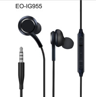 Wholesale best universal earbuds online – Best Sellers S8 In Ear Headsets Genuine Headphones EO IG955 Earphones Handsfree Black White For Samsung Galaxy S8 and S8 Plus Earbuds