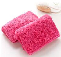 макияжное полотенце оптовых-Полотенце из микрофибры для женщин для снятия макияжа многоразовые косметические полотенца для чистки лица салфетка для красоты аксессуар оптовая продажа бесплатная доставка LYW2732