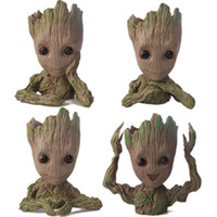 ingrosso piantando bambini in giardino-Baby Groot Flower Pot Plant Tree Guardiani della Galassia Action Figure Model PVC Kids Toys Collezione Movie Garden Pot Decoration Figurines