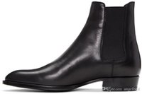 erkekler yumuşak ayakkabılar toptan satış-Sıcak satış İngiltere stil marka tasarımcı ayak bileği erkek botları yumuşak deri sonbahar çizmeler erkek oxfords ayakkabı yüksek üst martin çizmeler artı boyutu