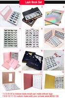 verpackungsetiketten großhandel-16 Paar Nerz Wimpern Buch mit Wimpern Verpackung Private Label Custom 3D Nerz Wimpern Verpackungsbuch