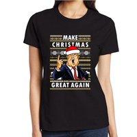costume feliz aniversário venda por atacado-Aniversário de Natal T camisas Feliz Ano Novo T-Shirts FAÇA NATAL GRANDE OUTRA VEJA camisas Custom tees Para Homens Mulheres Tees