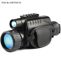 Wholesale longest range camera resale online - Monocular Night Vision infrared Digital Scope for Hunting Telescope long range with built in Camera Shoot Photo Recording Video T191022
