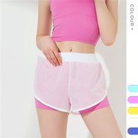 Wholesale pants for yoga resale online - Sport Shorts Women Fitness Clothes Summer Mesh Workout Lulu Running Gym Yoga Shorts For Ladies Elastic Short Pants MMA1847