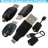 piles usb achat en gros de-Chargeur USB sans fil 510 ego pour batterie IC à préchauffage de fil 510 protéger e Cigs Cigarette Mod Cell huile épaisse BUD Batteries Adaptateur Chargeurs