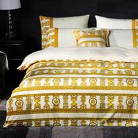 ingrosso letti nuovi arrivi-2019 Nuovo arrivo casa Indooor modello colorato King Queen Size Europa Style Suit Quattro stagioni Bedroom Theme 4pcs Set di biancheria da letto