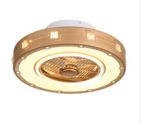 Wholesale dimmer led bulbs resale online - Modern intelligent LED ceiling fan light dimming remote control ceiling fan light creative indoor air purification home lighting LLFA