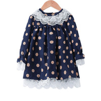 Wholesale baby girl corduroy dress for sale - Group buy Girls Lace Princess Dress Toddler Baby Girls Dot Printed Long Sleeve Dress Kids Designer Clothing Baby Girl Corduroy Ruffle Pleated Skirt