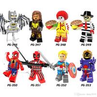 ferro homem face brinquedo venda por atacado-Super Heroes Espaço Batman Vixen Iron Spider-Man Ronald McDonald com Coringa Rosto Crianças Brinquedos PG8084