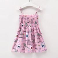 Wholesale european baby clothing online - 5 Cartoon Lovely Summer Baby Girls Dress Suspender Cotton Kids Dresses Hot Sale New Girls Easter Children Clothing