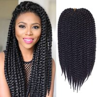 Wholesale synthetic braiding hair free for sale - pack Havana Mambo Twist inch strands pack packs full head Synthetic Hair Crochet Braiding Hair Extensions b