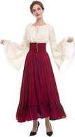 Renaissance Medieval Dress Victorian Peasant Retro cosplay Gown Shirt and Skirt