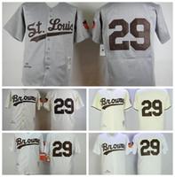 71ca7923 #29 No Name White 1953th Grey 1953th Cream Retro Cream Stitchied S M L XL  XXL XXXL Mens browns baseball jerseys
