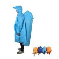 kap regenmäntel großhandel-ackpack Abdeckung Einteilige Raincoat Poncho Regen Cape Camping Raincoat Jacken Unisex Outdoor-Wandern