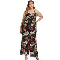 f8861b8f367 Wipalo Women Plus Size Back Criss Cross Floral Print Jumpsuit Spaghetti  Strap Ladies Summer Casual Maxi Jumpsuit Holiday Set 3XL
