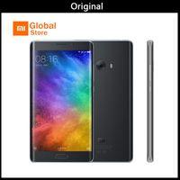 dual sim quad core 5.7 großhandel-Original Xiaomi Mi Note 2 4 GB 64 GB Handy Löwenmaul S821 Quad Core 5,7 Zoll FHD Fingerprint ID MIUI 8