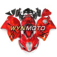 abs plástico para hayabusa al por mayor-Carenados de motocicleta para Suzuki GSXR1300 Hayabusa 1997 1998 1999 2000 2001 2002 2002 2004 2004 2005 2006 2007 2007 Rojo ABS Kits de motor de inyección de plástico