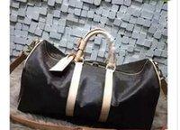 venda de sacos de homens venda por atacado-60 CM grande capacidade mulheres sacos de viagem famoso designer clássico venda quente de alta qualidade homens sacos de ombro mochila continuar bagagem 2018
