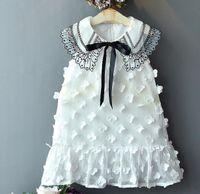 neues chiffon- ärmelloses seidenkleid großhandel-Mädchenkleid Sommer 2019 neue Seide Mesh Rock Prinzessin Kleid weißen Ärmel Knospe / pink