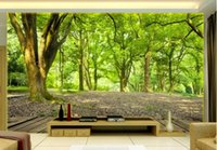 Wholesale country landscaping pictures resale online - 3d room wallpaper custom photo mural D stereo landscape green woods TV background wall art pictures wallpaper for walls d