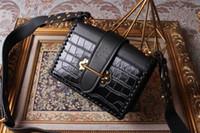 ingrosso borse di marca donne grandi-Borsa della borsa crossbody genuina del cuoio 2019 Portafoglio grande nuove borse borse moda di marca del progettista di lusso Portafogli da donna
