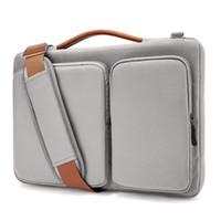 macbook pro luva impermeável de 13 polegadas venda por atacado-Bolsa de Ombro para MacBook Air 13-15.6 polegadas de tela 13 MacBook Pro USB-C, de capa de notebook impermeável à prova de choque