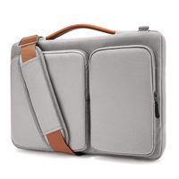 wasserdichte ärmel für laptops großhandel-Laptop Umhängetasche für MacBook Air 13-15.6 Zoll Display 13 MacBook Pro USB-C, wasserdichte, stoßfeste Notebooktasche