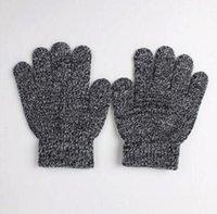 Wholesale Winter Cute Boys Girls Gloves Solid Color Finger Point Stretch Knit Mittens kids gloves knitting warm glove children boys Girls MittensDHL