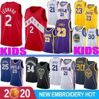Wholesale basketball jerseys lebron for sale - Group buy NCAA Youth Kids Stephen Curry College Jersey Antetokounmpo Kawhi Leonard Joel Embiid Ben Simmons LeBron James S XL