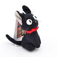 pingentes de gato preto venda por atacado-Bruxa entrega em domicílio pequeno gato preto de brinquedo de pelúcia pingente boneca atacado japão único original anime pequeno gato preto de pelúcia boneca