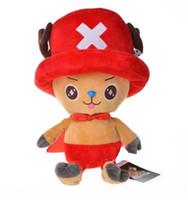 bonecas de uma peça venda por atacado-2019 30 cm Anime One Piece figura boneca de pelúcia Tony Tony Chopper cinco figuras de cor brinquedos de pelúcia frete grátis