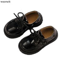 Wholesale dresses shoes toddler for sale - Group buy Weoneit New Children Toddler Baby Little Teen Girls Boys Muffin Bottom Leather Shoes for Girls Kids Dress Party Dance Shoes