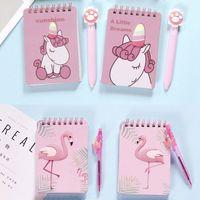 ingrosso notebook per uccelli-Kawaii Cartoon Animals Unicorn Bird Stampato a spirale Notebook Carino Mini Coil Notepad Diary School Office Supply
