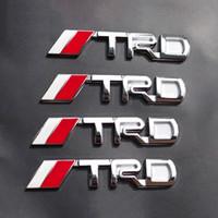 autos deportivos toyota al por mayor-TRD 3D del metal del deporte divisa del coche coche pegatinas estilo Racing Development tronco de coche decoración Accesorios para automóviles Toyota CORONA REIZ