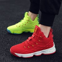 Wholesale boots high tops for men for sale - Group buy Breathable High top men Basketball Shoes Training Boots for male Ankle Boots Cushioning Light Basketball Sneakers Big Size