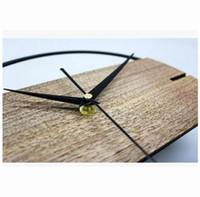 sticker 12 pouces achat en gros de-Horloge Murale Vintage Simple Design Moderne En Bois Horloges pour Chambre 3D Autocollants En Bois Montre Murale Home Decor Silent 12 pouces