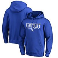 sudaderas de voleibol al por mayor-Kentucky Wildcats deporte voleibol sudaderas con capucha, aceptan fútbol americano, béisbol, hockey, equipos de baloncesto, envío gratis