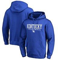 волейбольные толстовки оптовых-Кентукки Wildcats спортивные волейбол пуловер с капюшоном кофты, принять сша футбол, бейсбол, хоккей, баскетбольные команды, бесплатная доставка