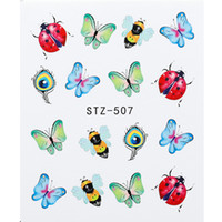 1 Sheet Nail Sticker Butterfly Summer Colorful Water Transfer Nail Decorations Uv Gel Polish Diy Decals