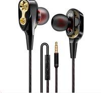 weiße kopfhörer android großhandel-In-Ear-Stereo-Kopfhörer Weiß / Schwarz / Rot 3,5-mm-Kopfhörer-Headset mit Mikrofon und Fernbedienung für Samsung-Handy Android-Handy